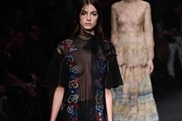 Valentino AW15 Dazed runway womenswear flowers sheer 33