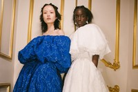 Backstage at the AW20 Simone Rocha fashion show LFW 25
