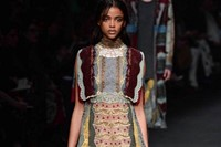 Valentino AW15 Dazed runway womenswear cake pattern colour 20