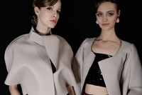 Backstage at Emporio Armani AW16