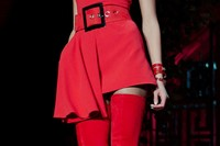 Versace AW15 Dazed runway womenswear red detail belt boots 20