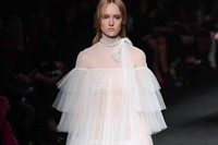 Valentino AW15 Dazed runway womenswear layers white sheer 7