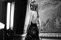 Atélier Versace Haute Couture AW15 Black And White Backless 2