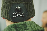Philipp Plein AW15 Knit Green Crossbones Skull Detail 21