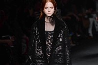 Valentino AW15 Dazed runway womenswear pattern velvet sheer 26