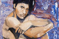 Larry Clark, Jonathan (5) 2014, Oil on canvas