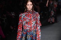 Valentino AW15 Dazed runway womenswear flowers circles red 22