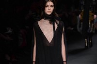 Valentino AW15 Dazed runway womenswear sheer v neck