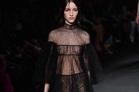 Valentino AW15 Dazed runway womenswear sheer black layers 12