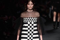Valentino AW15 Dazed runway womenswear checkered sheer 9