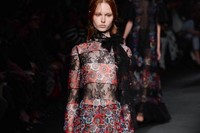 Valentino AW15 Dazed runway womenswear sheer stripes flowers 24