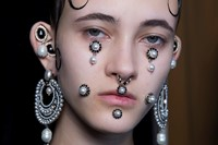 Givenchy AW15, Dazed, Womenswear, Drop Pearls, Gelled Hair 2