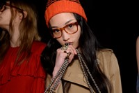 Gucci AW15 Dazed backstage Womenswear beret nerd geek 6
