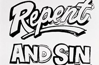 Andy Warhol, Repent and Sin No More! (Positive) 4