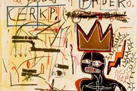 """Jean-Michel Basquiat, """"With Strings Two"""" (1983) 2"""