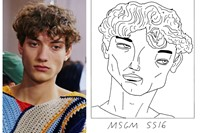 MSGM SS16 Milan menswear Illustration Badly Drawn Models 1
