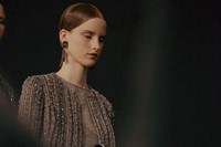 Armani Privé Haute Couture SS15 Middle Parting Bead Jacket 17