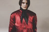 House of Holland AW15 Womenswear Neck Tie Bomber Jacket 2