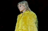Versace AW15 Dazed runway womenswear yellow faux fur 8