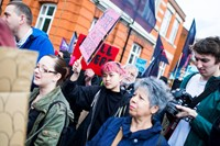 Anti-gentrification protest Reclaim Brixton in London 9