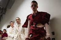 Backstage at the AW20 Central Saint Martins MA fashion show 21