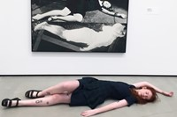 with 'Horizontal Woman' by John Baldessari (1987) 0