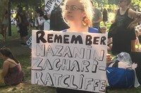 Nazanin Zaghari-Ratcliffe sign at Fck Gvt Fck Boris march 5