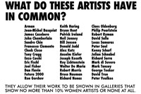 Guerrilla Girls, What Do These Artists Have In Common?, 1985 0