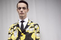 Dior Homme AW15 floral yellow coat, Mens, Dazed backstage 0