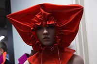 Backstage at the AW20 Central Saint Martins MA fashion show 3