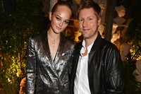 Christopher Bailey and Jean Campbell attending Bur 0