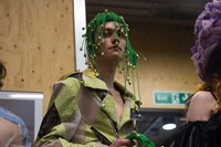 Backstage at the AW20 Central Saint Martins MA fashion show 18