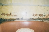 lorena lohr - untitled (bar table and mural)