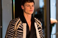 Backstage at Balmain Homme AW14 5