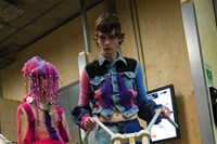 Backstage at the AW20 Central Saint Martins MA fashion show 20
