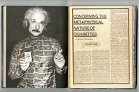 Albert Einstein smoking, text by Sharon Hennessey 8