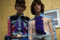 Backstage at the AW20 Central Saint Martins MA fashion show 19