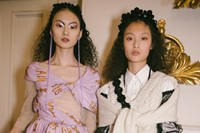 Backstage at the AW20 Simone Rocha fashion show LFW 19