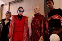 Marine Serre AW18 Paris fashion week backstage 8
