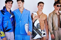 Versace SS15 Mens collections, Dazed backstage 1