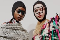 Backstage at Matty Bovan AW18 London show 4