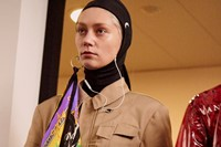 Marine Serre AW18 Paris fashion week backstage 14