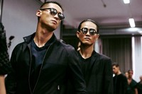 Emporio Armani SS15 Mens collections, Dazed backstage 14
