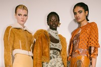 Backstage at the AW20 Charlotte Knowles show womenswear 8 7