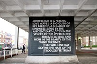 Robert Montgomery at Cob Gallery