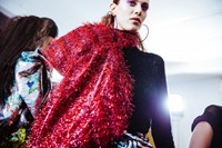 Halpern AW18 lfw show womenswear backstage fashion week 23