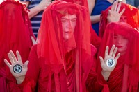Extinction Rebellion's red-robed protesters 1