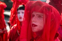 Extinction Rebellion's red-robed protesters 2