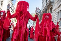 Extinction Rebellion's red-robed protesters 4