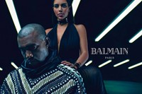 Best pop star fashion campaigns Balmain Kim Kardashian Kanye 0